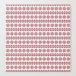 Christmas Stitch Canvas Print