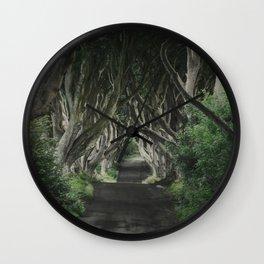 The Dark Hedges II Wall Clock