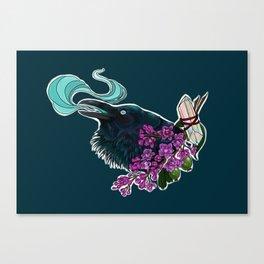 Yennefer's crow Canvas Print