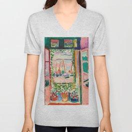 Open Window - Henri Matisse Unisex V-Neck