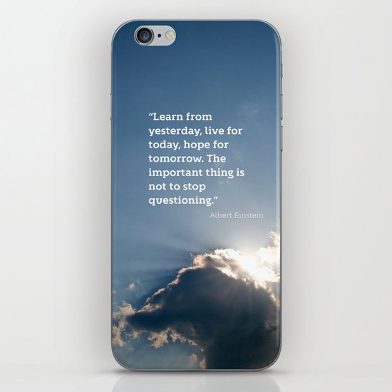 Live for today iPhone & iPod Skin