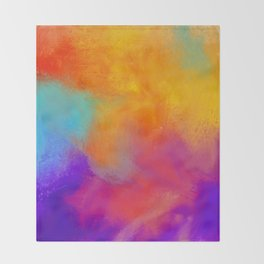 Summer Storm Abstract Painting Throw Blanket