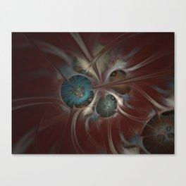 Flowers in Silk Canvas Print