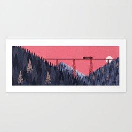 Railroad bridge II Art Print