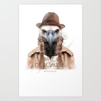 Vautour Art Print
