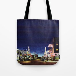 OLD VEGAS BY NIGHT Tote Bag