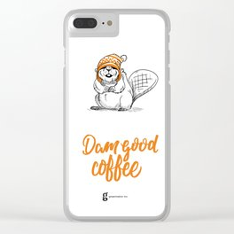 Dam Good Coffee Clear iPhone Case
