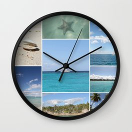 Scenic Caribbean Collage Wall Clock