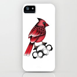 Cardinal and knuckle duster iPhone Case