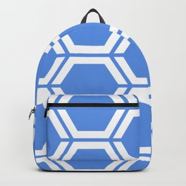 United Nations blue - turquoise - Geometric Polygon Pattern Backpack