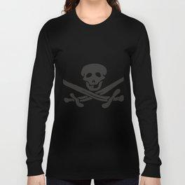 Black pattern for a Jolly Roger t-shirt Long Sleeve T-shirt