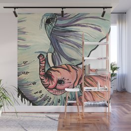 Compassionate Elephant Wall Mural