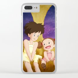 Mei & Satsuki Inside the Catbus Clear iPhone Case