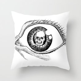 Skull Eye Throw Pillow