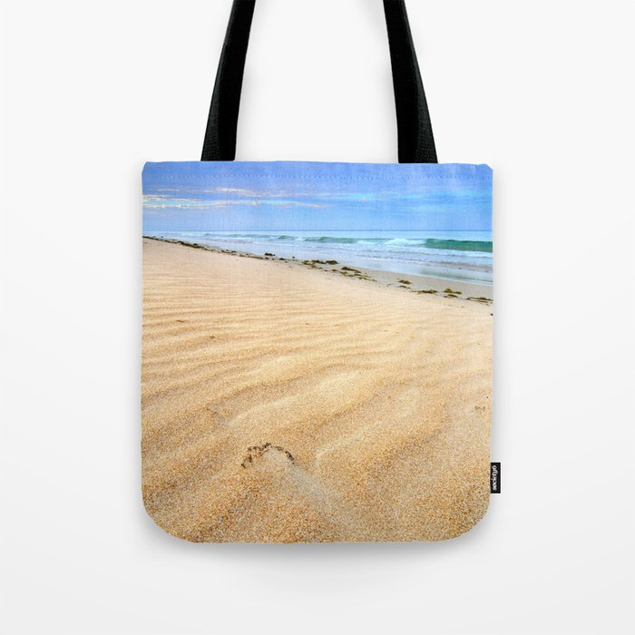 """Levante wind "" Magic Tarifa beach at sunrise Tote Bag"