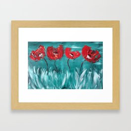Abstract Poppies Framed Art Print