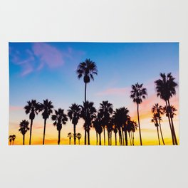 Venice Beach at Sunset Rug