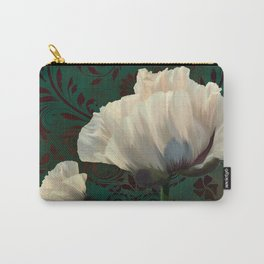 Poppies en Verdigris Carry-All Pouch