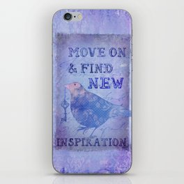 Bird collage inspirational Quote iPhone Skin