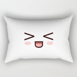 HAHAHA! Laughing Kawaii Face XD! Rectangular Pillow