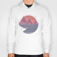 Hoodies featuring The Mountains are Calling by Rick Crane