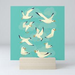 Vintage Seagulls Sketchbook Style Mini Art Print
