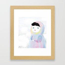 Miss Winter Framed Art Print