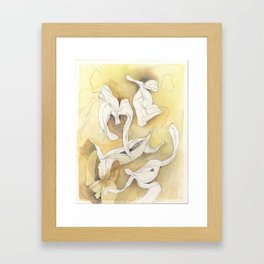 Banana Peelings Framed Art Print