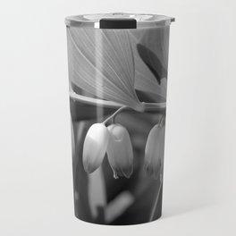 White Bells Flower Travel Mug