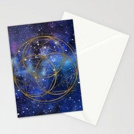 Space mandala Stationery Cards
