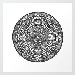 Aztec Roots Art Print