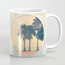Peach and Grapefruit Sunset on Boardwalk Coffee Mug