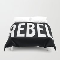 rebel Duvet Covers featuring Rebel by The He Say She Say Collection
