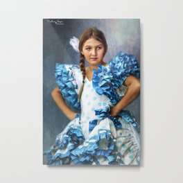 Polkadot Princess Metal Print
