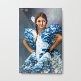 Polkadot Princess Metal Print
