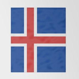 Flag: Iceland Throw Blanket