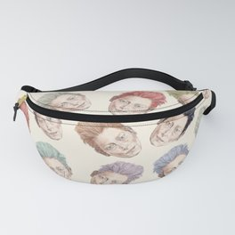 Heads on Cream | Hair Pattern Fanny Pack