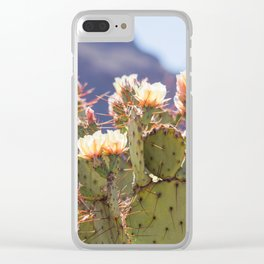 Prickly Pear Cactus Blooms, II Clear iPhone Case