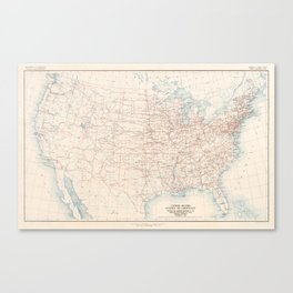 1926 U.S. Highway System Map Canvas Print
