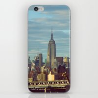 skyline iPhone & iPod Skins featuring Skyline by Alex Marcano