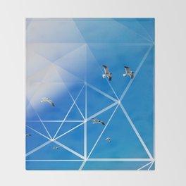 Gulls in Hexagram Flight Throw Blanket