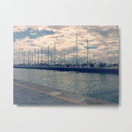 Cervia Port Metal Print