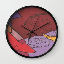 Skull Retro Wall Clock