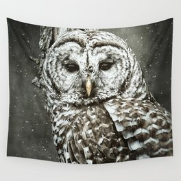 BARRED OWL  Wall Tapestry