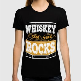 """""""Whiskey On The Rocks"""" tee design. Awesome gift to your whiskey lover family and friends!  T-shirt"""