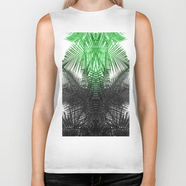 green and gray fern Biker Tank