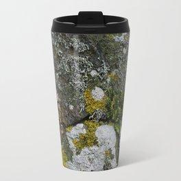 Coastal Rocks With Lichens and Ferns Travel Mug