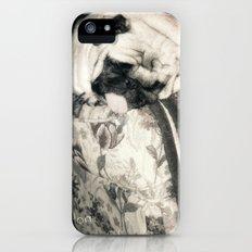 lazy pug iPhone (5, 5s) Slim Case