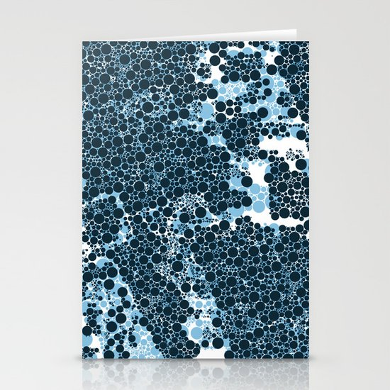 Blue Circles. Stationery Cards
