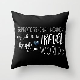 Professional Reader Throw Pillow